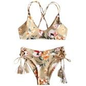Mulheres Dois Pieces Floral Print Swimsuit