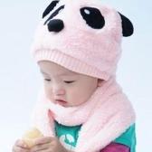 Winter-kleinkind mädchen Boy niedlich Panda: Hut Schal Set Fleece Beanie warme Mütze Unisex: Zweiteiliges Set