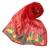 Las nuevas mujeres de la gasa de la bufanda larga de impresión pashmina playa elegante delgada bufanda