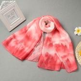 Kobiety Długi szalik chusty Wielu Sposoby Las Drukuj Dual Layer Bead Zamknięcie Lato chusty Cienki Pashmina Cover Up