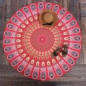 Kobiety Runda Plażowa Ręcznik Bohemian Wydruk Tapestry Rzucać Joga Mat Piknik Koc Strój kąpielowy