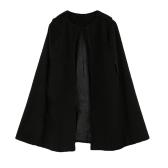 新しい女性ケープ コート バットウィング マントゆるいポンチョ ジャケット アウター キャメル/ブラック