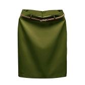 Europa Sexy Damen Mini OL Rock Volltonfarbe Reißverschluss Schließung Bodycon Casual Marone Röcke