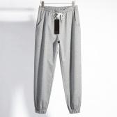 Мужские однотонные брюки Abody с эластичной талией и завязками повседневные спортивные брюки