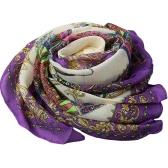 Новая мода женщины шифон шарф веер Цветочные печати Длинные шали Бич пашмины Элегантный тонкий шарф