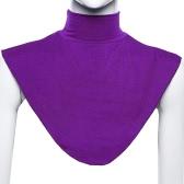Elastic New Fashion muçulmana Scarf Collar Falso cor sólida Pescoço Xaile Casual