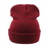 New Winter Unisex Mulheres Men Beanie Hat Solid Warm Hip-Hop Cool Knitted Cap Headwear