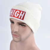 New Unisex Women Men Beanie Hat Letter Embroidery Warm Hip-Hop Cool Knitted Cap Headwear