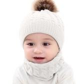 2pcs niño niños sombreros bebé círculo bucle bufanda cuello calentador