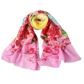 Neue Art und Weise Frauen-Chiffon- Schal Bunte Blumenmuster-Druck-Gradient Lange Schal Pashmina eleganter Thin Schal