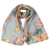 New Fashion Women Chiffon Scarf Special Print Contrast Color Long Thin Shawl Pashmina