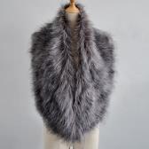 Nuevas mujeres de moda Faux Fur Collar Otoño Invierno suave suave bufanda chal mantón sólido