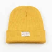Abody Men Women Knitted Beanies Solid Color Warm Soft Breathable Windproof Winter Hat
