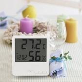 Biała Termometr higrometr Zegar Temperatura Wilgotność Meter Kalendarz maksymalna Wartość minimalna Wyświetlacz
