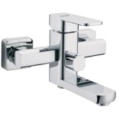 Homgeek Modern High-quality Wall-mounted Brass Bathtub Tub Faucet Polished Chrome Showering Mixer Bathroom