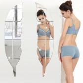 Adesivo removível 3D Feather espelho da parede da sala de estar Quarto Casa de Banho vara Decal Partido Home Decoração Arte Mural Adesivos DIY 6pcs