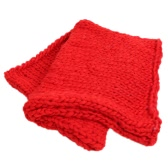 Super Chunky Hand Knit Throw Blanket Crochet Warm Thick Bulky Knitted Soft Sleek Big Sofa Living Room Handwoven 23.6x23.6in