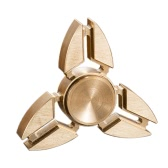 Full Brass Tri EDC Metal Hand Finger Fidget Spinner Y-shaped Snowflake Design Widget Focus Toy Desktoy for Killing Time Relieve Stress Anxiety ADHD Boredom High Speed