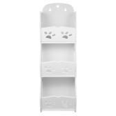 3-Tier Storage Organizer Shelf DIY Set desmontable estante de almacenamiento lavable