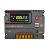 Decdeal 12V 24V Solar Charge Controller Battery Regulator with LCD Color Display Overload Protection Temperature Compensation