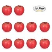 Réaliste Faux Rouge Pomme Artificielle Réaliste Fruit Maison Cuisine Décorations Photographie Props