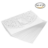 20pcs/set Wedding Invitation Card Cover Pearl Paper Laser Cut Bridal Bridegroom Pattern Invitation Cards Wedding Anniversary Supplies--White