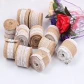 Rollos de arpillera naturales hechos a mano del rollo de lino del cordón hecho a mano de 2m 50m m de la anchura de 50m m