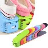 10PCS Home Double Layer Shoes Storage Rack(The colors are delivered at random)
