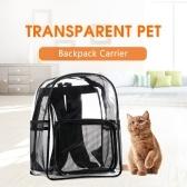 Transportadora do animal de Estimação Mochila Transportadora Dog Transparente Design de Malha Respirável Pet Mochila para Ao Ar Livre Caminhadas Camping