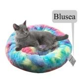 Blusea Мягкая плюшевая круглая кровать для домашних животных