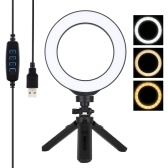 PULUZ 6.2 Inches 72 LEDs Circle Round Light Selfie Lamp
