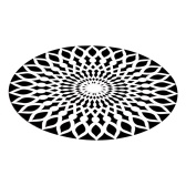 3D Space Round Carpet Оптические иллюзии Нескользящий коврик Противоскользящий коврик