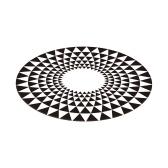 3D Космический круглый ковер Оптические иллюзии Нескользящий коврик Противоскользящий коврик 80 * 80 см