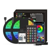 Lumières de bande intelligentes de Wifi LED RVB 32.8ft. 5050 lumières changeantes de couleur