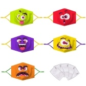 5 PCS Kids Cloth Face Mask with Filter