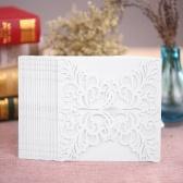 Anself 20Pcs Tarjetas románticas de la boda del partido de la invitación tarjeta sobre invitado de tallado delicado