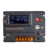 10A 12V 24V LCD carga Solar controlador painel bateria regulador Auto interruptor sobrecarga proteção compensação de temperatura