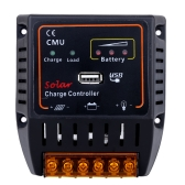 10A 12V/24V Solar Panel Battery Charge Controller with USB Output Auto Regulator System Overcharge Protection