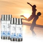 450ml Portable Wasserstoff reichen Wasser Ionisator Transparent Wasserglas mit Deckel hochwertige BPA-freien Business Cup große Kapazität Wasser Glasflasche