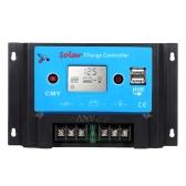 Anself интеллигентая(ый) 10А 12V/24V ЖК Солнечный контроллер Auto регулятор PWM зарядки USB выход панели солнечных батарей батареи защита от перегрузки