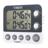 2 kanałowy LED Cyfrowy minutnik kuchenny przemysłowe LaboratoryCooking Zegar z budzik Chronograf Czas pamięci Funkcja Max.99H / 59m / 59S