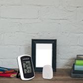 Anself LCD Probador Digital de termómetro inalámbrico de exterior interior temperatura medida tiempo ambiente