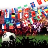 Anself Copa de Europea de 2016 24 países mundo cadena bandera colgando la bandera de la bandera para la Euro 2016