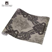 no tejido SENBIRD estilo europeo y americano retro del papel pintado magnífico patrón de flores Papel pintado de papel de lujo clásico de decoración de interior Antecedentes 0.53m * 10m = 5.3㎡