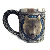 Hot Unique Cool Creative Novelty Resin Stainless Steel Liner Creepy 3D Coffee Beer Milk Mug Cup Tankard Drinkware for Decoration Gift