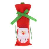 Festnight 1PC Red Wine Bottle Capa Jantar Decoração da tabela do Natal Bolsa partido Home Decor Papai Noel