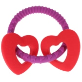 Candy Color Food Grade Cute Silicone Chewable Baby Teething Toy Loop Bracelet Teether BPA Free