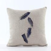 Vintage Retro País Inicio de la pluma de banda Funda de almohada cubierta del protector de cama decorativa de la cintura del coche del sofá amortiguador del regalo de la decoración