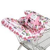 Компактный портативный 2-в-1 супермаркет Корзина Обложка Мат Полиэстер Стульчик Крышка защиты детей Подушка для младенца