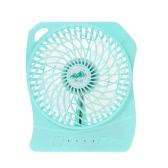 Mini ventilateur brushless USB Rechargeable Handy 3 Controllable Speed ​​et LED Light Desk Fan